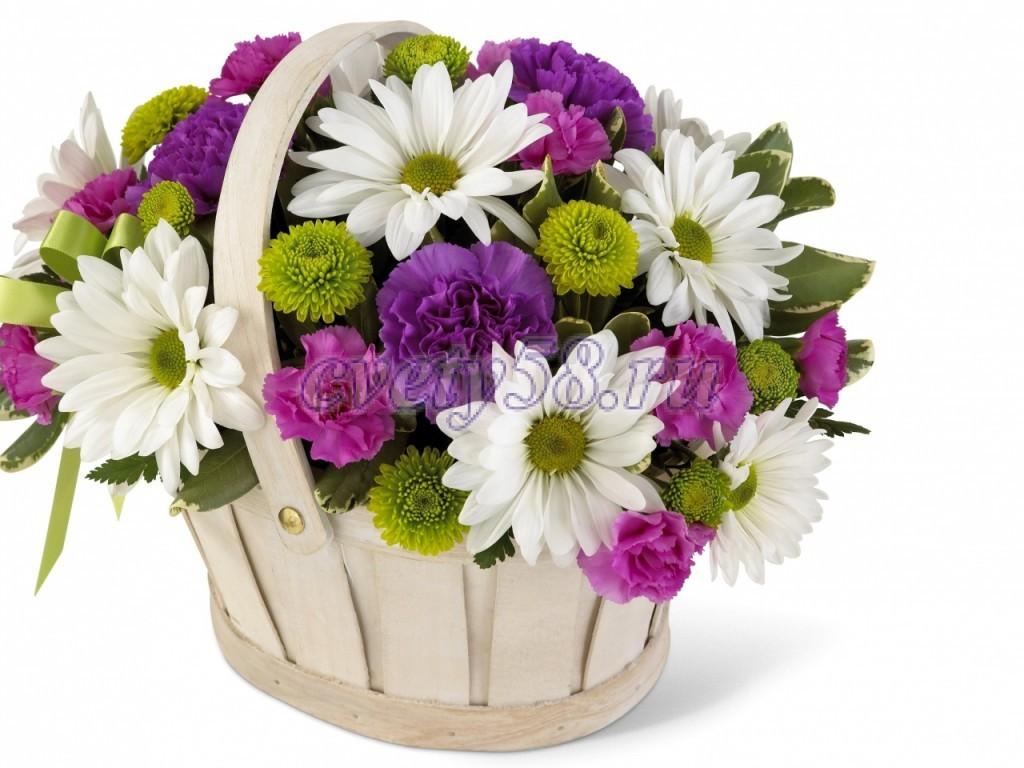 Купить цветы в корзине подарочный где заказать игрушки для букетов в татарии