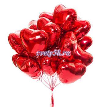 фольга однотонные в форме сердца